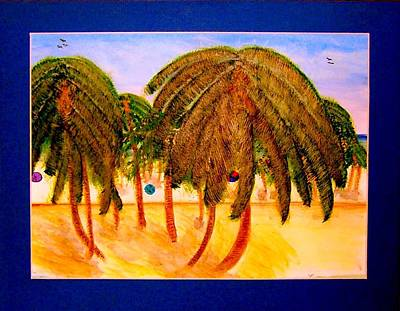 Painting - Rasta Palms by Larry Farris