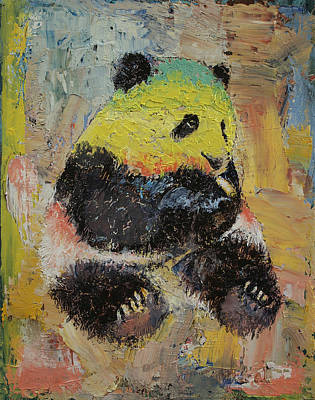 Panda Bears Painting - Rasta Panda by Michael Creese