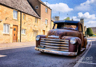 Rat Rod Digital Art - Rat Chevy 3100 Pickup by Tim Gainey