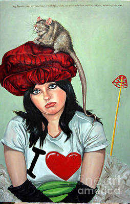 Rat Hat Art Print by Shelley Laffal