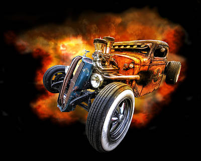 Rat Rod Explosion Art Print by Gill Billington