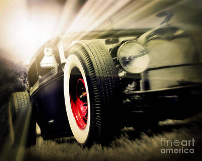Rat Rod Digital Art - Rat Rod Morning by Perry Webster
