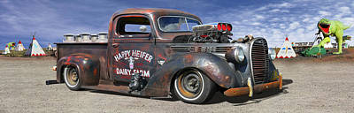 Rat Rod Digital Art - Rat Rod On Route 66 3 by Mike McGlothlen