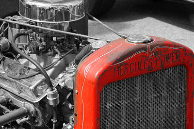 Photograph - Rat Rod Red Radiator by Mick Anderson