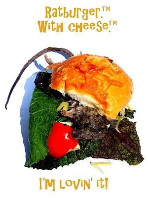Ratburger With Cheese Art Print