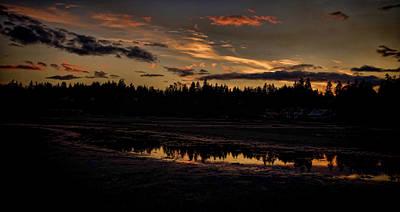 Photograph - Rathtrevor Beach Evening Sunset by Marilyn Wilson