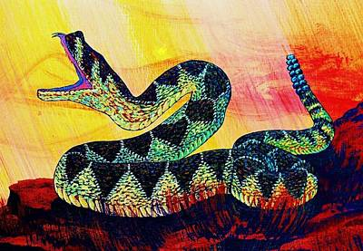 Snake Scales Painting - Rattle Snake by Cynthia Sampson