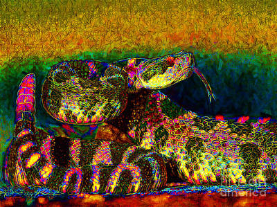 Rattlesnake 20130204p0 Art Print by Wingsdomain Art and Photography