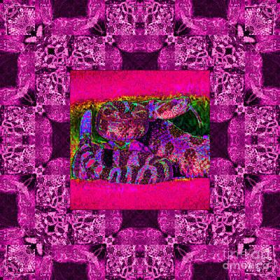 Poseidon Digital Art - Rattlesnake Abstract Window 20130204m80 by Wingsdomain Art and Photography