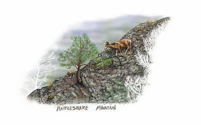 Digital Art - Rattlesnake Mountain by Troy Stapek