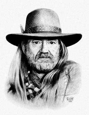 Texas Drawing - Rattlesnake Willie by Mike Roberts