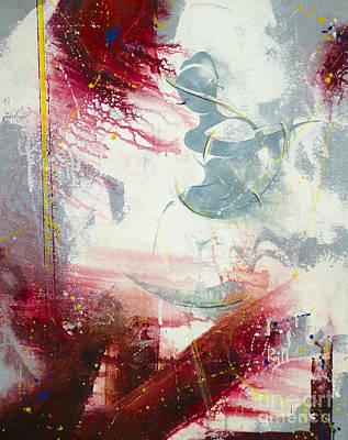 Conceptual Art Painting - Raudram Rasa by Raj Maji