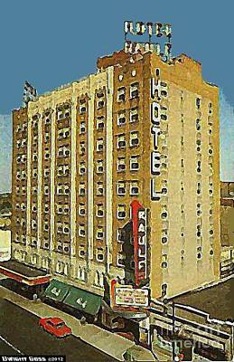 Painting - Raulf Hotel And Theatre In Oshkosh Wi by Dwight Goss