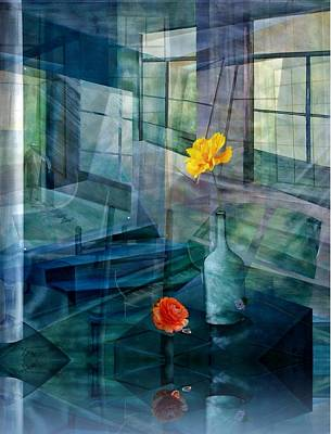 Mixed Media - Raum-reflektion by Gertrude Scheffler