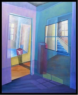 Painting - Raumirritation 10 by Gertrude Scheffler