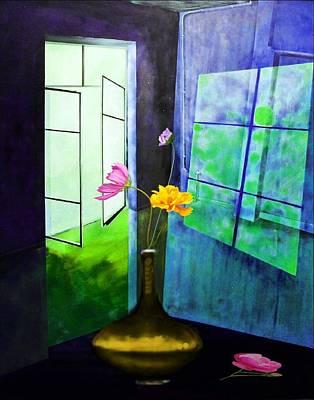 Mixed Media - Raumirritation 12 B by Gertrude Scheffler