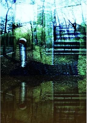 Licht Mixed Media - Raumland 01 by Gertrude Scheffler