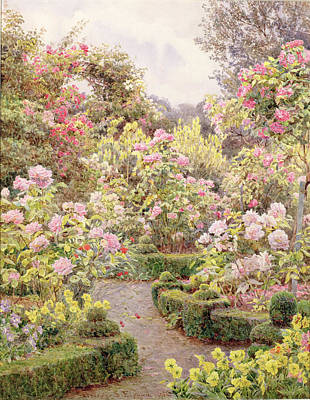 Raundscliffe - Everywhere Are Roses Art Print by George Samuel Elgood