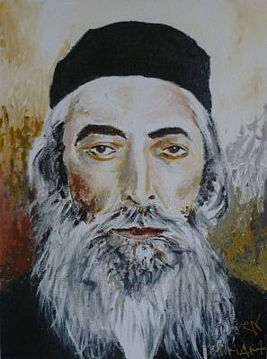 Painting - Rav Yaakov Yosef Herman by Miriam Shaw