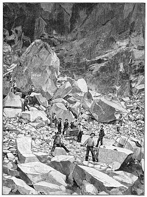 Carrara Marble Wall Art - Photograph - Ravaccione Marble Quarry, Artwork by Science Photo Library