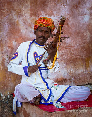 Musician Royalty-Free and Rights-Managed Images - Ravanhatha Musician by Inge Johnsson