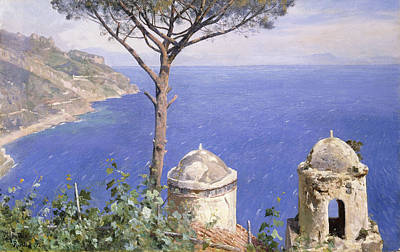 Nature Scene Painting - Ravello by Peder Monsted
