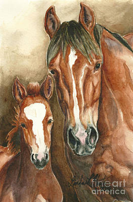 Lark And Robin Of Sand Wash Basin Art Print by Linda L Martin
