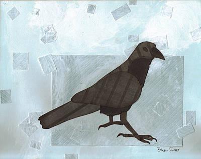 Mixed Media - Raven by Brian Fuchs