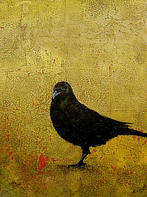 Bling Mixed Media - Raven by Buddy Parrent