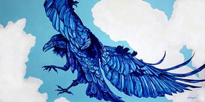 Raven Cloud Dancer Original by Derrick Higgins