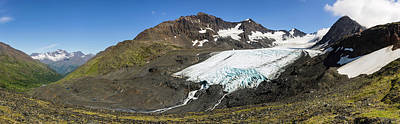 Raven Glacier At Crow Pass Art Print by Panoramic Images
