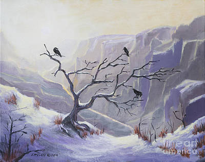 Sunset Grand Canyon Painting - Raven Haven by Jerry McElroy