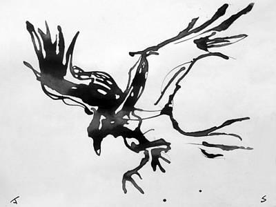 Raven Landing Original by John Sharp