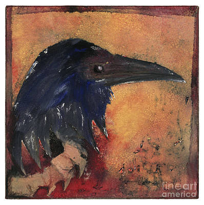 Painting - Raven - Middle Ages - Bird Of Ill Omen - Gallows Bird - Scavenger Bird - Fine Art Print -stock Image  by Urft Valley Art