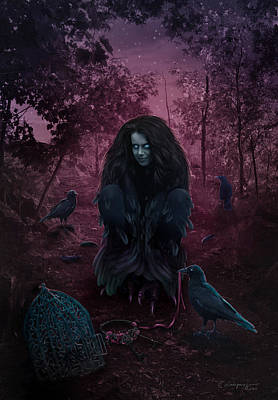 Raven Digital Art - Raven Spirit by Cassiopeia Art