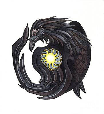 Mythology Painting - Raven Steals The Sun by Antony Galbraith