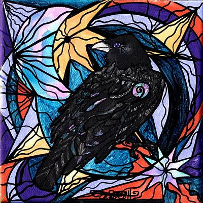 Sacred Art Painting - Raven by Teal Eye  Print Store