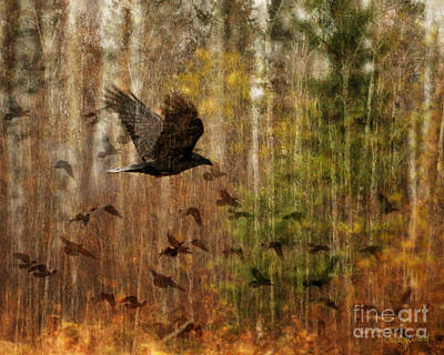 Judy Wood Digital Art - Raven Wood by Judy Wood