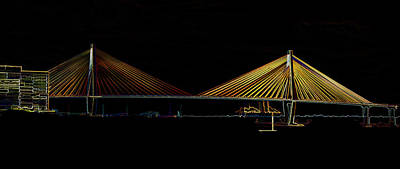 Photograph - Ravenel Bridge by Bill Barber
