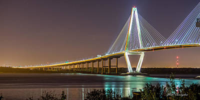 Photograph - Ravenel Bridge - Charleston by Mike Covington