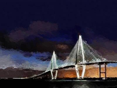 Ravenel Bridge Charleston Sc Art Print by Anthony Fishburne