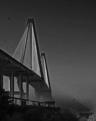 Farm House Style - Ravenel Bridge in Fog by Allyson Jones