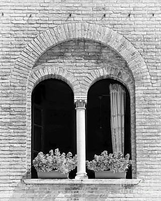 Ravenna Window Mono Art Print