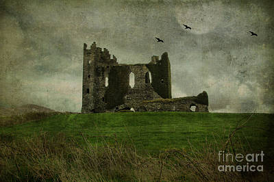 Moonlit Night Photograph - Raven's Castle by Terry Rowe