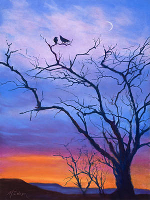 Painting - Raven's Chat by Marjie Eakin-Petty