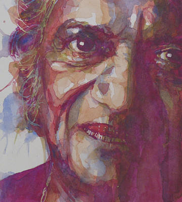 India Painting - Ravi Shankar by Paul Lovering