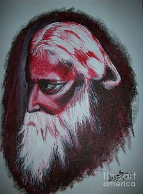 Tagore Painting - Ravindranath Tagore by S P