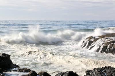 Photograph - Ravishing Waves At Cape Perpetua by Athena Mckinzie
