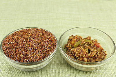 Photograph - Raw And Prepared Quinoa by Lee Serenethos