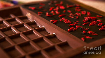 With Red Photograph - Raw Chocolate Setting by Iris Richardson